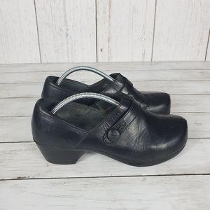Dansko Solstice Black Clogs Size 39